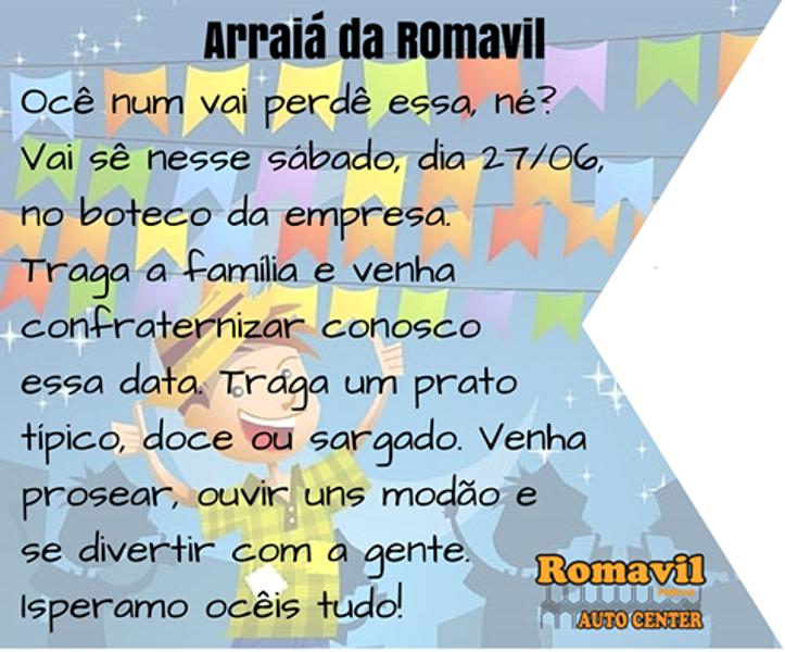 Convite Festa Junina Romavil