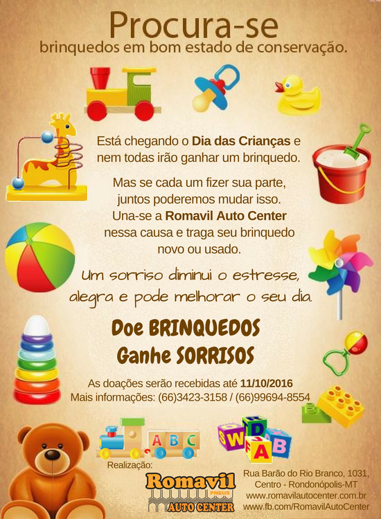 Campanha Doe Brinquedos Ganhe Sorrisos2