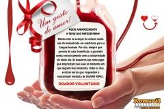 Agradecimento DOADOR VOLUNTÁRIO