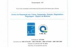 Certificado de Conformidade IQA - Até 03-12-214