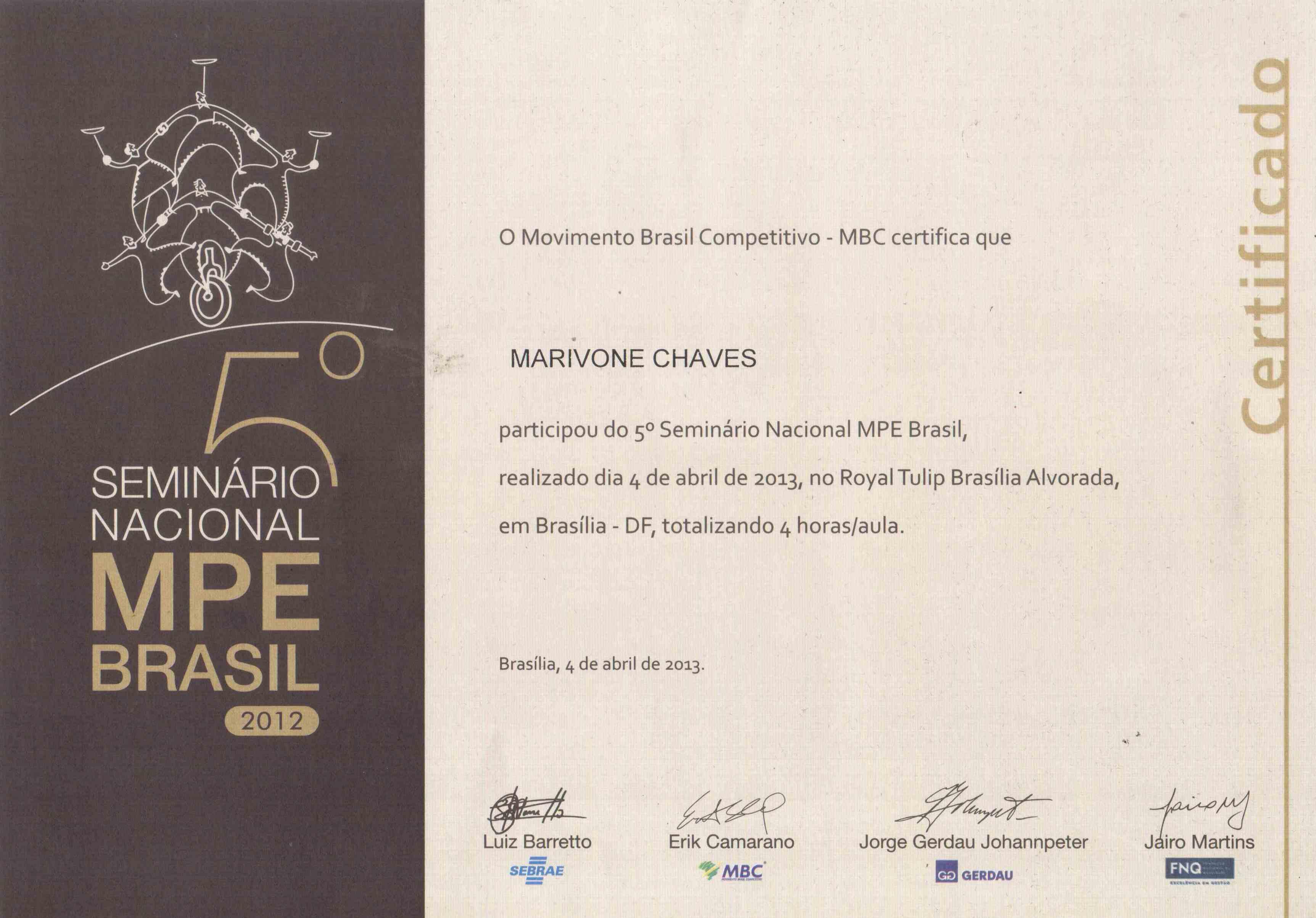 5º Seminário Nacional MPE Brasil