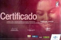 Certificado participação Prêmio Mulheres de Negócios 2013