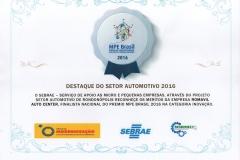 Destaque Finalista Nacional Prêmio MPE Brasil 2016