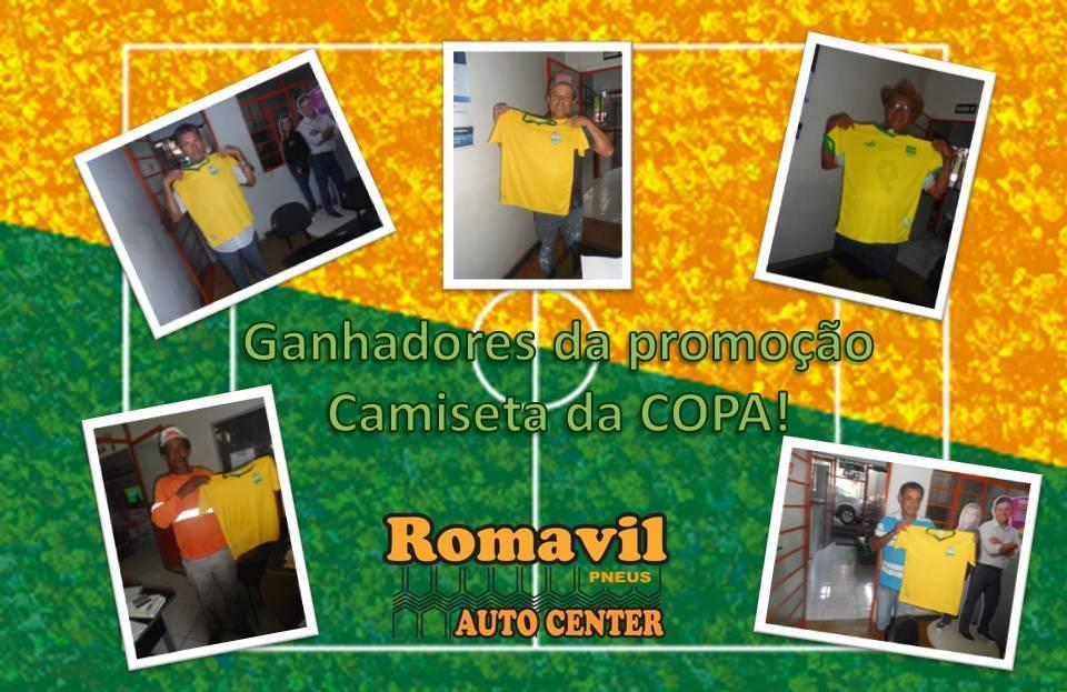 Ganhadores da Promoção camiseta da COPA