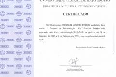 1º Encontro de Administração UFMT Campus Rondonópolis