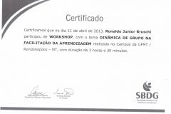 Workshop Dinâmica de Grupo na Facilitação da Aprendizagem